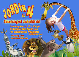 first birthday circus invitation zach u0027s first birthday madagascar theme pinterest