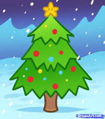 how to draw a christmas tree for kids step by step christmas
