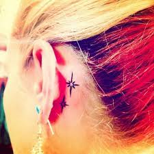 70 pretty behind the ear tattoos tattoo star and piercings