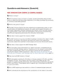 nsf i corps frequently asked questions