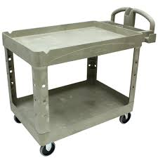 Kitchen Utility Cart by Large 2 Shelf Utility Cart With 5