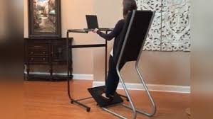 standing desk exercise equipment leanchair a cross between a standing desk and padded chair hits