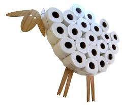 Animal Toilet Paper Holder Sheep Shelf A Wall Shelf For Storing Toilet Paper Rolls