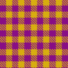 purple and gold gingham plaid fabric eclectic house spoonflower