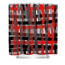 Red And Black Bathroom Accessories by Plaid Shower Curtain Red White Black Gray Plaid Bathroom Curtain