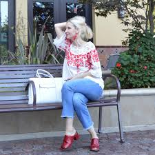 quickie adam lippes for target red white and lace peasant blouse july 4th fun fashion