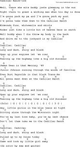 lyrics cadillac ranch springsteen song cadillac ranch lyrics and chords