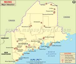 map of maine cities places to visit in maine map of maine attractions
