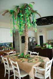 hallway decor for jurassic party jurassic world party