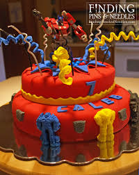 transformer birthday cake finding pins and needles exploding transformers cake