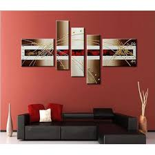 frameless 5pcs set pure hand painted oil paintings modern