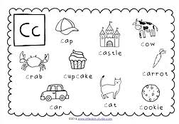 preschool letter c activities and worksheets little dots