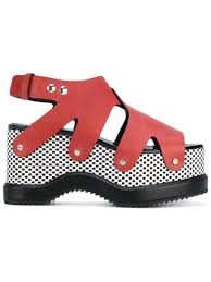 lyst proenza schouler patterned platform sole sandals in red