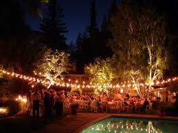 outside party outdoor party solar string lighting all about house design