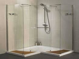 bathroom shower remodel ideas with glass wall and door design