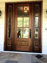 Oak Exterior Doors Wooden Front Doors With Glass Exterior Wood Doors With Glass