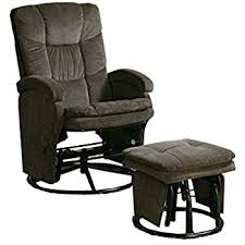 amazon com coaster rimini euro faux leather glider recliner and