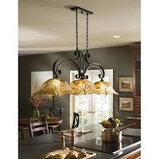 stained glass kitchen island chandeliers faced off dark wooden