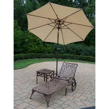 Patio Furniture Set With Umbrella - kidkraft outdoor chaise with umbrella navy walmart com