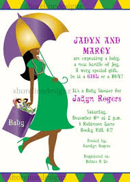 mardi gras babies custom mardi gras theme baby shower invite you print