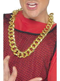 gold costume necklace images Sale adult chunky fake gold rapper necklace fancy dress costume jpg