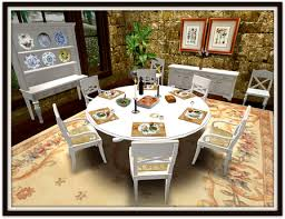 second life marketplace dinner party dining set for 6 almond