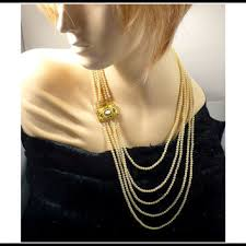 long fashion pearl necklace images Best 1920s pearl necklace products on wanelo jpg