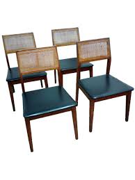 vintage hibriten walnut cane back dining chairs set of 4 chairish