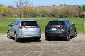 size of toyota rav4 2017 toyota rav4 vs 2017 mazda cx 5 comparison autoguide com