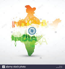 Indian Map Vector India Map With Indian Flag Stock Vector Art U0026 Illustration