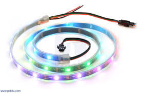 pololu addressable rgb 30 led strip 5v 1m sk6812