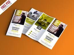 brochure psd template 3 fold professional trifold brochure psd template psdfreebies