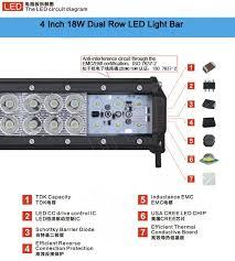 quality led light bar lightbars 12v led strobe lights 18w 4d