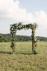 wedding arch greenery wooden ceremony arch with greenery ceremony spaces details
