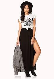 black maxi skirt with slit maxi skirt forever21 2031557899