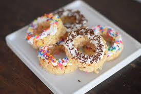 rice krispie treat doughnuts
