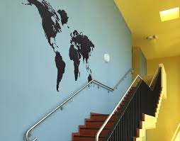 World Map Decal by Vinyl Wall Art Decal Sticker World Map 131
