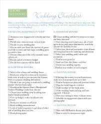 wedding checklist simple wedding checklist 20 free word pdf documents
