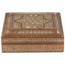 Persian Furniture Store In Los Angeles Antique Islamic Persian Wooden Box For Sale At 1stdibs
