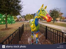 christmas lights ocala fl painted horse sculpture on display downtown square ocala florida