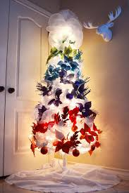 how to fill out a white christmas tree my rainbow ombre