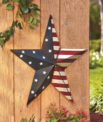 star decor for home metal star outdoor decor 2 feet wide american stars and stripes