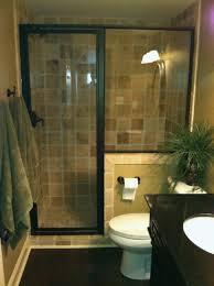 bathroom glass shower door bathroom with brown shower wall with