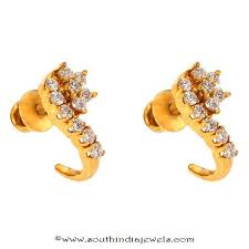 ear studs designs 3 diamond ear stud designs from prince jewellery south india jewels
