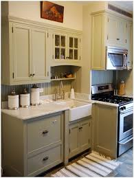 Brown Cabinet Kitchen Kitchen Green Kitchen Walls Brown Cabinets Image Of Kitchens