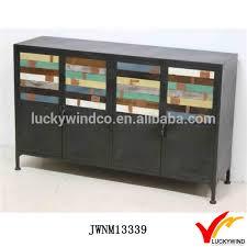 black vintage industrial metal sideboard buffet table buy
