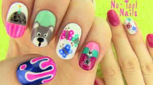 20 amazing and simple nail nails without nail art tools 5 nail art designs youtube