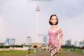 jlo is wearing kebaya in monas jakarta barbie dolls jlo