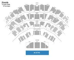 zenith plan salle frederic francois concert from 22 apr to 17 jun 2018 ticketmaster
