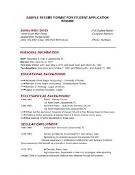 examples of resumes sample format resume example basic for